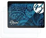 Bruni Schutzfolie kompatibel mit Xoro TelePad 96A3 XOR400514 Folie, glasklare Bildschirmschutzfolie (2X)
