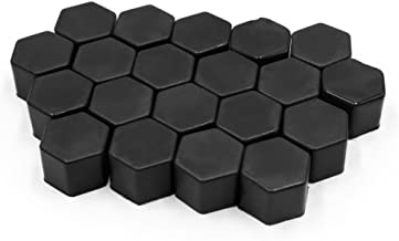uxcell 20Pcs Black 21mm Car Vehicle Wheel Nut Lug Hub Covers Screw Dust Protect Caps
