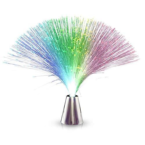Hermosa romántica fibra de vidrio luz LED que cambia de color de color, lámpara de luz nocturna, funciona con pilas, decoración de hada, luz nocturna, lámpara para dormitorio, fiesta, salón, boda