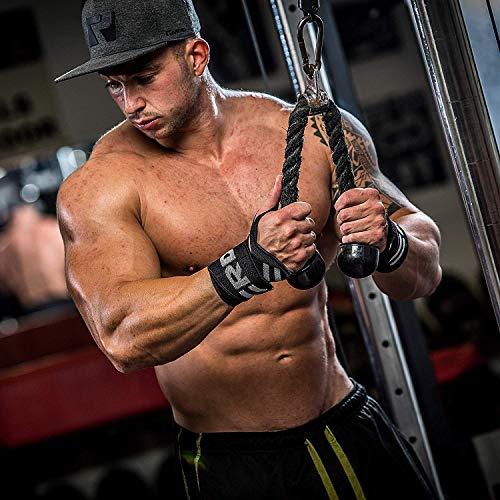 Authentische RDX Handgelenk Gewichtheben Training Gym Griff Handschuhe Body Building B D - 7