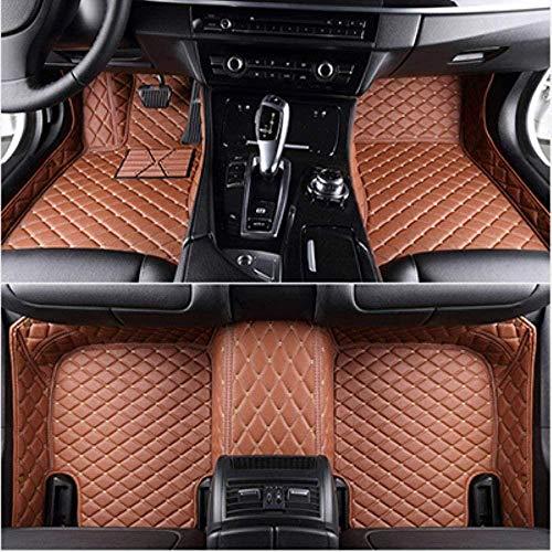 HIZH Vloermatten voor BMW X5 E53 E70 F15 F85 X6 X7 X1 E84 F48 X2 F39 X3 E83 F25 X3 G01 F97 X4 F26 G02 F98 Automatten Leer Past op vloerkleden in vloerkleden, bruin