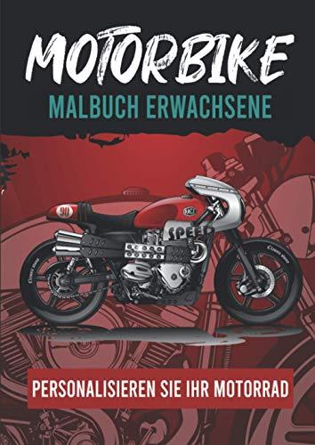 Motorbike Malbuch :: Motorrad Malvorlagen - Malbuch für Erwachsene