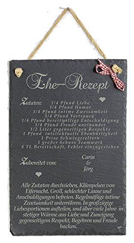 Feiner-Tropfen Hochzeitsgeschenk Brautpaar Hochzeit Gravur Ehe Rezept