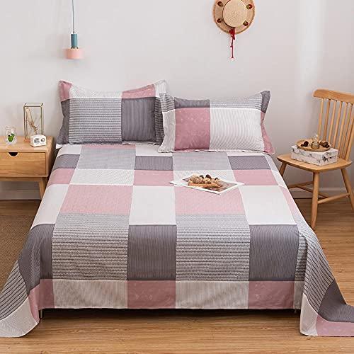 DSman Protector de colchón/Cubre colchón Acolchado, antiácaros, Impresión de algodón Sarga simple-13_180 * 200cm