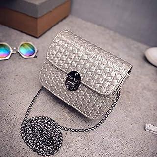 YKDY Shoulder Bag Chain Handbags Tide Small Square Package Women Shoulder Bag Messenger Bag(Gray) (Color : Gray)