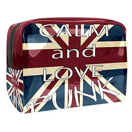 Bolsa de Maquillaje Bandera de Inglaterra del Reino Unido Neceser de Cosméticos y Organizador de Baño Neceser de Viaje Bolsa de Lavar para Hombre y Mujer 18.5x7.5x13cm