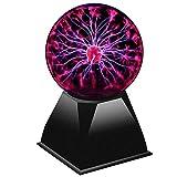 Bola de plasma XL, 20 cm, Activación con Palmadas y Música, Tamaño Grande