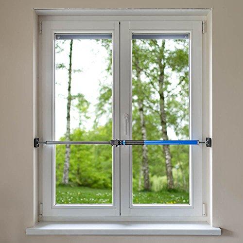 ALLEGRA Sicherungsstange für die Fenstersicherung und Türsicherung, Einbruchschutz für Fenster und Türen (1m - 1,75m, Blau)