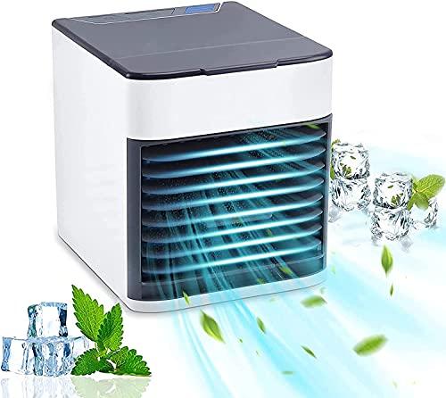 2021 Blast Portable AC ausiliario - Condizionatore d aria portatile, ventilatore da tavolo USB con 3 velocità, refrigeratore di refrigerazione a spruzzo silenzioso per la stanza dell ufficio domestico