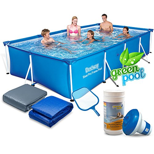Global Gartenpool Set mit Zubehör 400 x 211 x 81 cm Frame Pool Bestway