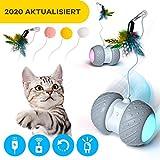 Ventvinal Interattiva Gatto Palla, Sfera Rotante Automatica con luci USB Ricaricabile e 7 Colori LED, Rotazione Interattivo Giocattolo Gatto Palla Elettrica per Animali Domestici Cani e Gatti