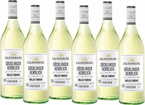 Falkenburg Müller Thurgau Göcklinger Herrlich Qualitätswein trocken (6 x 1 l)