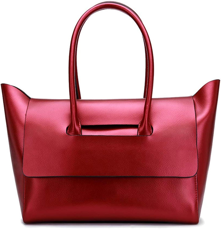 Huichao Handtasche Damen Messenger Messenger Messenger Umhängetasche, Mode Retro Leder Rindsleder Arbeitstasche, Geldbörse, Kosmetiktasche, große Kapazität,rot B07MPFYT49 beb9dc
