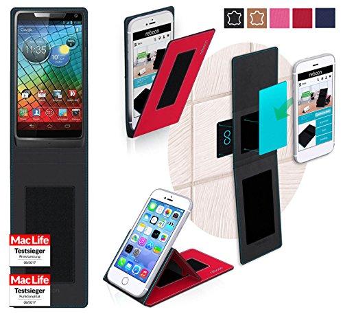 reboon Hülle für Motorola RAZR i Tasche Cover Case Bumper | Rot | Testsieger