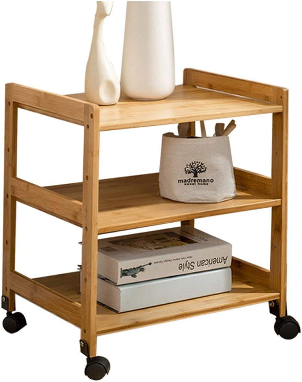 Kitchen Shelf it can Move Cart Storage Rack (Size   L-55cm)