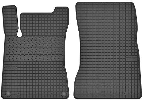 Motohobby Gummimatten Vorne Gummi Fußmatten Satz für Mercedes-Benz A W177 / B W247 / CLA C118 / X118 (ab 2018) - 2-teilig Passgenau