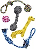 RCR Petz 5 Piece Bundle of Hand Picked Premium Dog Rope Chew Toys, Promotes Healthy Chewing While Keeping Your Petz Occupied and Entertained, Best for Small to Medium Dogs, Great for Teething Puppies
