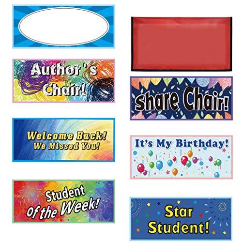 Tomaibaby 1 Satz Klassenzimmer Stuhl Namensschilder Kreative Star Student Sitz Willkommen Zurück Schreibtisch Namensschilder für Die Dekoration 43X23x1cm