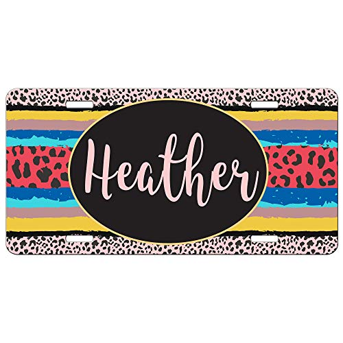 Simply Customized Front License Plate Animal Print Leopard Cheetah Personalized Gift for Her Mothers Day PLP