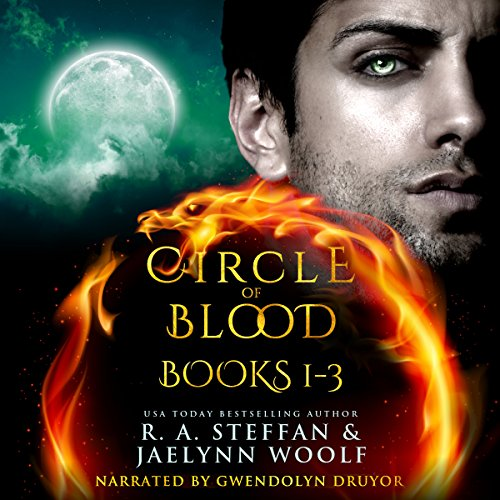 Circle of Blood     Books 1 - 3              By:                                                                                                                                 R. A. Steffan,                                                                                        Jaelynn Woolf                               Narrated by:                                                                                                                                 Gwendolyn Druyor                      Length: 27 hrs and 31 mins     18 ratings     Overall 4.2