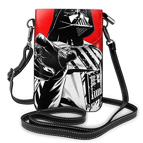 Pequeñas bolsas cruzadas para teléfono celular, impresión de Star Wars con ranuras para tarjetas de crédito