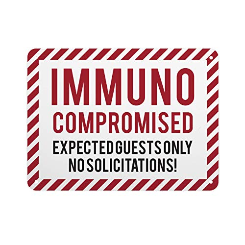 Sure Lock Packaging Coronavirus COVID-19 Signs | Home, Office or Personal Spaces |Quarantine, Immune Compromised, Self Isolation (6 Designs) | (Red, ImComp)