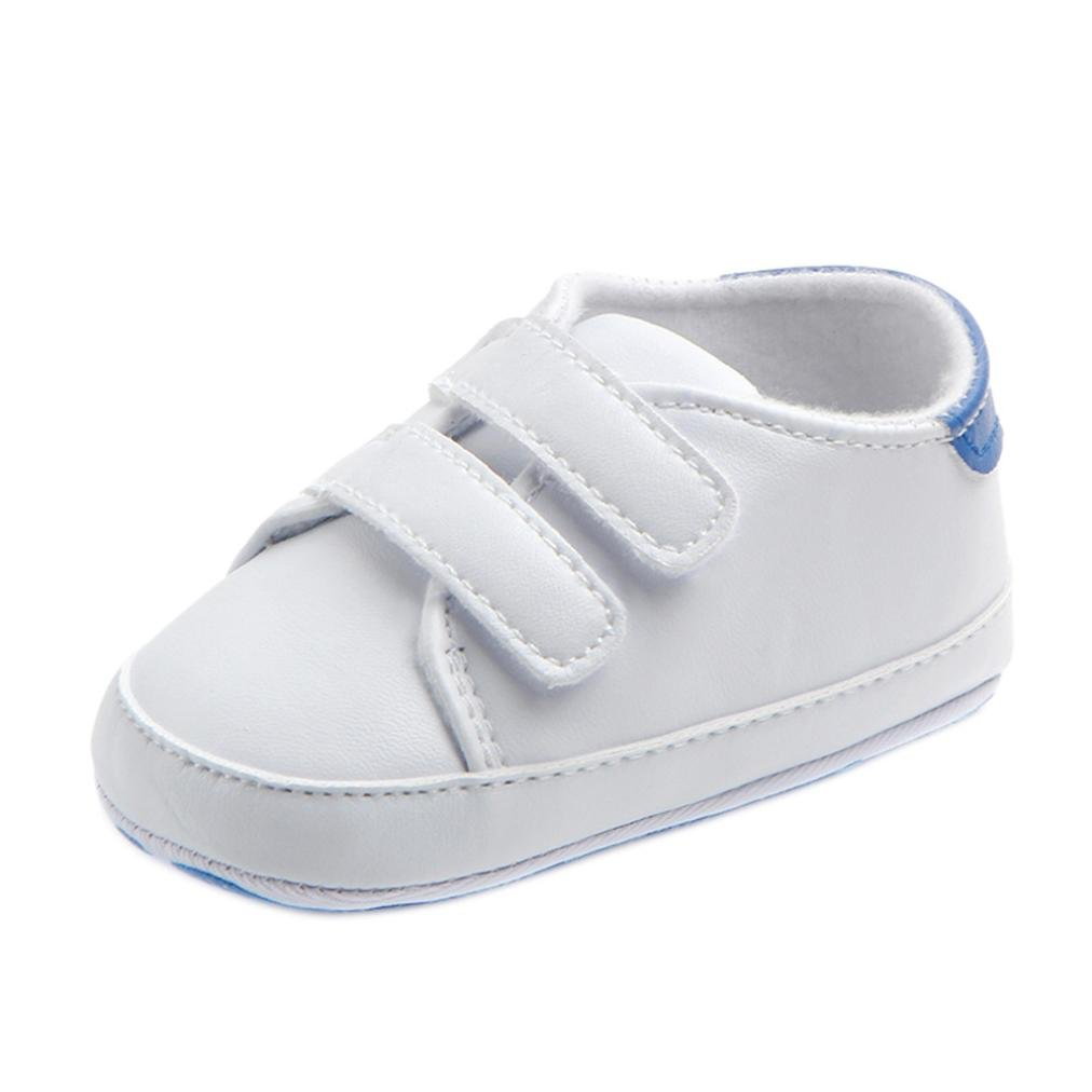 SHOBDW Boys Shoes Toddler Girls Boys Casual Lace up Crib Prewalker Soft Sole Sneakers Shoes