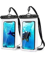YOSH Waterdichte telefoonhoes 7,0 inch (2 stuks) mobiele telefoon waterdichte hoes voor zwemmen en koken IPX8 waterdichte telefoonhoes compatibel met iPhone 12 11 Pro XS Max XR X Samsung S8