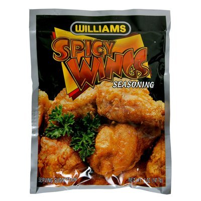 (2 Pack)-Williams Spicy Wings Hot Seasoned Coating Mix, 5 oz. each