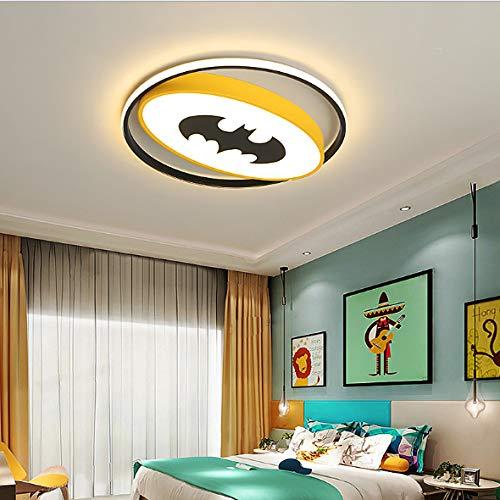 Led Plafonnier Batman Spiderman Personnalité Créative Chambre D'Enfants Maternelle Garçon Chambre Protection Des Yeux Héros Décoration Diamètre 40 Cm