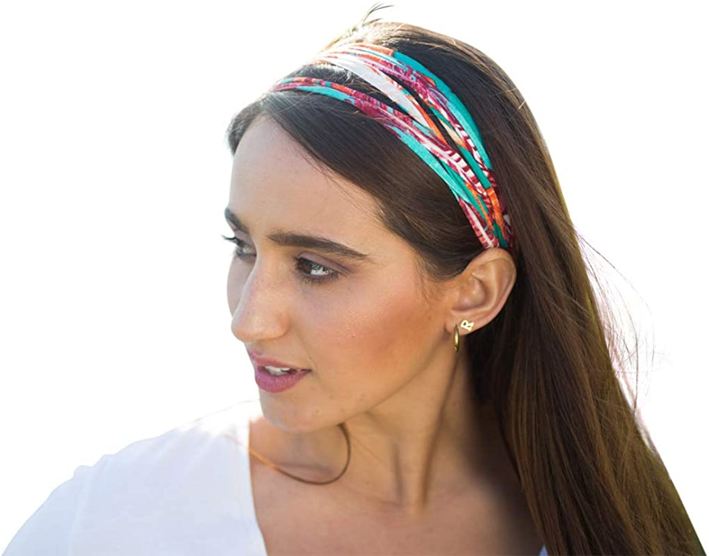 Dona Bela SHREDS Headbands for Women, Upcycled Fabric Head Bands - BelaBands 4-pk