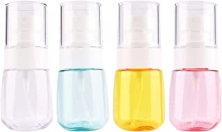 Driew Travel Size Spray Bottle, Refillable Mini Fine Mist Spray Bottles Pack of 4 with Organize Bag