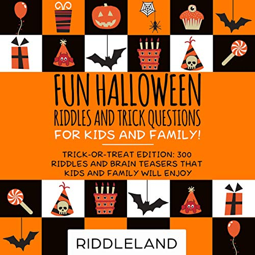 『Fun Halloween Riddles and Trick Questions for Kids and Family!』のカバーアート