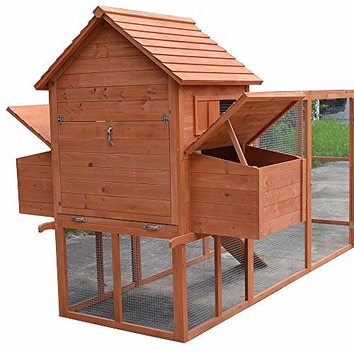 Hühnerstall / Hühnerhaus mit Freigehege aus Holz ca. 310 x 150 x 150 cm - 2