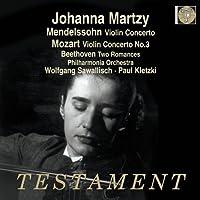 Mendelssohn: Violin Concerto; Mozart: Violin Concerto No.3; Beethoven: Romances Nos.1 & 2 by Johanna Martzy (2013-02-12)