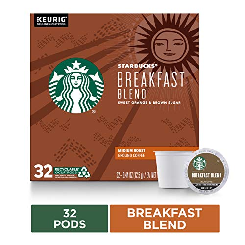 Starbucks Breakfast Blend Medium Roast Single Cup Coffee, 32 ct