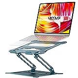 """Suporte para notebook Urmust para notebook, suporte ajustável ergonômico para Ultrabook, portátil, compatível com mouse pad compatível com MacBook Air Pro, Dell, HP, Lenovo Light Alumínio de até 15,6"""", Azul"""