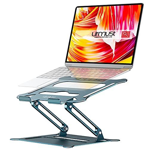 Urmust Laptop-Ständer, Notebook-Halter, ergonomisch, verstellbar, Ultrabook-Ständer, Erhöhung, tragbar