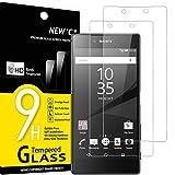 NEW'C 2 Unidades, Protector de Pantalla para Sony Xperia Z5 Premium, Antiarañazos, Antihuellas, Sin Burbujas, Dureza 9H, 0.33 mm Ultra Transparente, Vidrio Templado Ultra Resistente