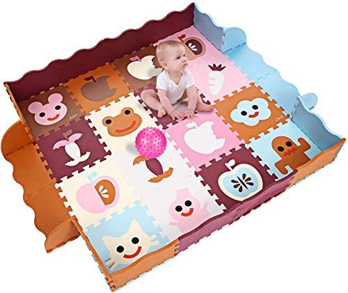 YUEBO Baby Spielmatte, Kinder eco schadstofffrei Krabbelmatte 13mm Extra dick Baby Schaumstoffmatte...