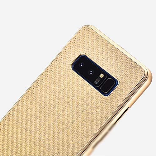LASTARTS Funda para teléfono móvil de fibra de carbono Nueva cubierta protectora de metal de alta gama Funda protectora contra caídas para Samsung S8 Plus, S8, nota 8, S9 Plus, S9, Note9 Funda para te