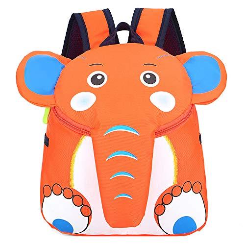 XMYNB Zaino Per Bambini Cartone Animato Carino Per Bambini Zaino Per Bambini Asilo Zaino Zainetto Elefante Arancione 21 * 10 * 25 Cm