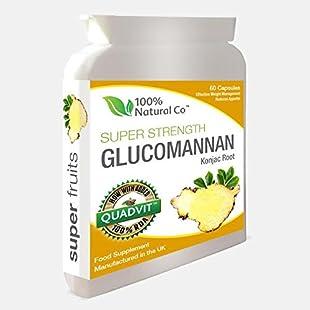 Glucomannan Capsules 100% Natural Co Super Strength