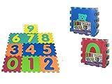 Color Baby - Alfombra Puzzle EVA con 10 Piezas, 64 X 96 cm (40679)