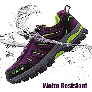 BomKinta Women's Hiking Shoes Anti-Slip Lightweight Breathable Quick-Dry Trekking Shoes for Women Purple Size 10
