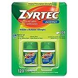Zyrtec Cetirizine Hcl/Antihistamine (120...