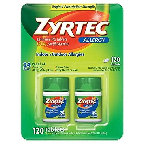 Zyrtec Cetirizine Hcl/Antihistamine (120 Tablets...