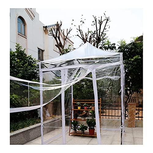FSYGZJ Tenda da Giardino, Gazebo Pop-up, Telo Impermeabile Resistente, Tenda da Sole Pieghevole con Struttura in Acciaio audace e Solarium Trasparente su 4 Lati, 5 Dimensioni (Colore: Trasparente,