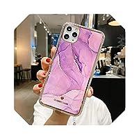 マーブルテクスチャマットフォンケースFor iPhone12 11Pro Max XR XS Max X 7 8 Plus SE 2020 12ProMax耐衝撃性マーブルソフトバックカバー-T1-for iPhone 8 Plus