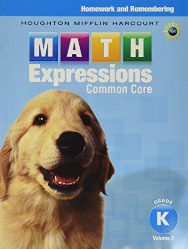 Math Expressions Homework Remembering Volume 2 Grade K